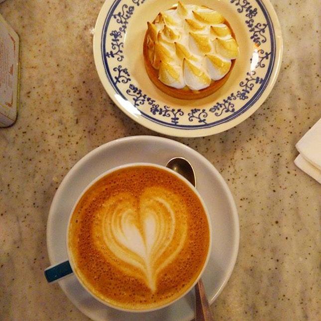 Passion fruit meringue tart #carpenterandcook #sgcafe #burpple
