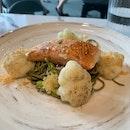 salmon & soba