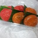 These ang ku kueh are surprisingly yummy!