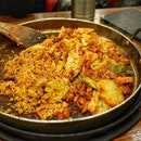 @yoogane marinated chicken galbi at Myeongdong not as nice as we thought.