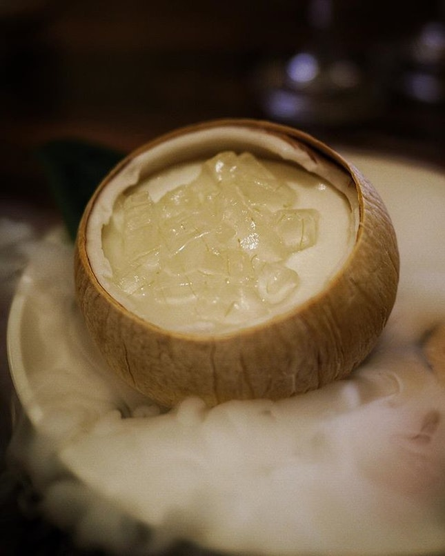 Refreshing Chilled coconut jelly and Aloe vera.