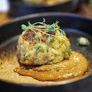 @greenwoodfishmarket Crab 🦀 Cake with Sweet Potato 🍠 .