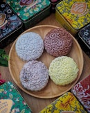 Old Seng Choong, FOUR HEAVENLY BEAUTIES snowskin mooncakes series with unique flavours are available till 24 Sept 2018.