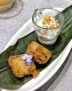 Golden Nian Gao with Coconut Ice-Cream .