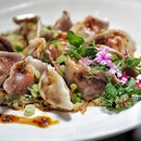 Poached Preserved Vegetable and Mushroom Pork Dumplings 🥟 .