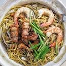 Kim Keat Hokkien Mee for Lunch 😋 .