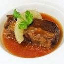 Braised Pork Ribs with Honey Plum Sauce ($38.00++)
