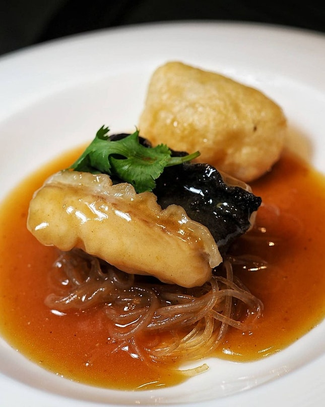 Braised White Eel with Abalone Sauce, Fish Paste Skin