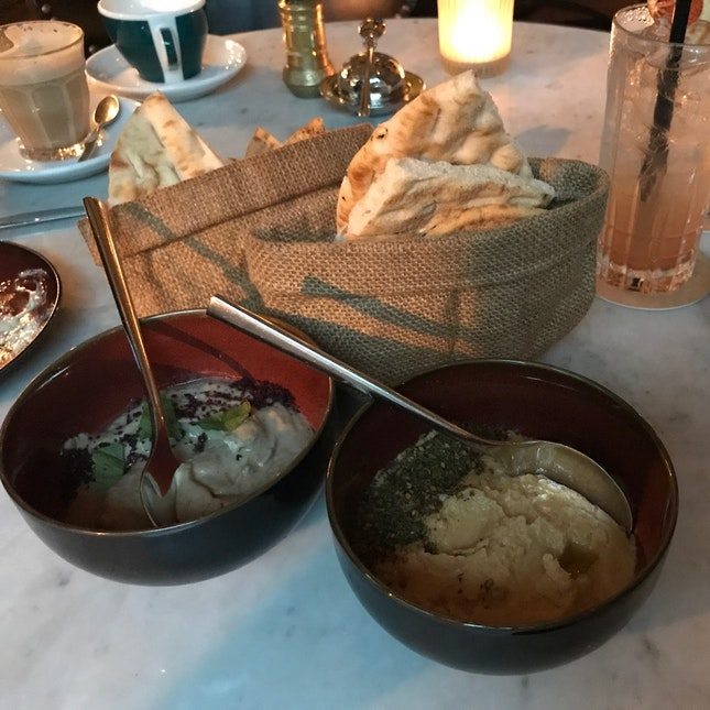 Fat Prince Hummus & Truffled Baba Ghanouj ($12 each)