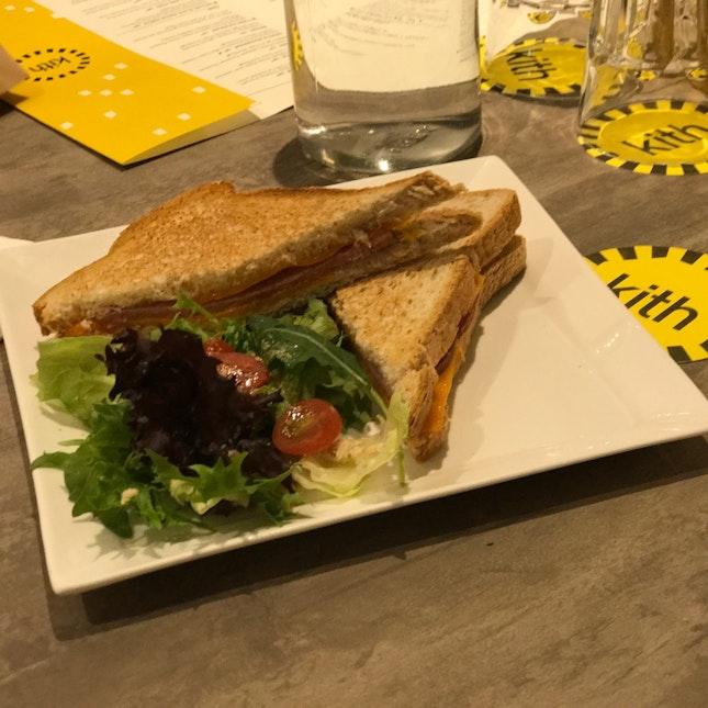 Turkey Ham and Cheddar Grilled Sandwich ($10)