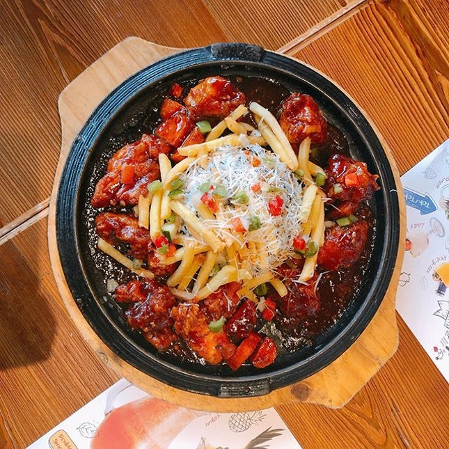 Chir Chir  Location 🗺: 50 Jurong Gateway Road, #04-13/14, Jem, S(608549)  MRT 🚇: Jurong East  Opening Hours 🕒: 11AM - 10PM (Sundays to Thursdays), 11AM - 11PM (Fridays & Saturdays)  Rating 📈: 8/10  Price 💸: $32.90  Review 💬:My to-go place for fried chicken!