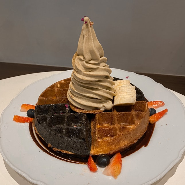 Waffle with Soft Serve