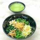 Thunder tea brown rice [$4.50] One of the cheapest thunder tea rice with a generous and fulfilling portion.