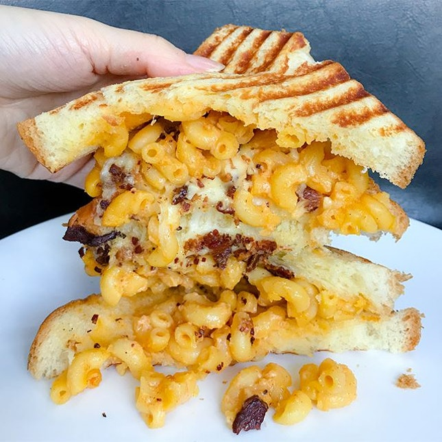 Bacon Mac & Cheese grilled cheese sandwich [$7.90] Taking over the former Koki Tamagoyaki is @52sandwichshack , a new sandwich takeaway kiosk that features grilled cheese sandwiches of different flavours.