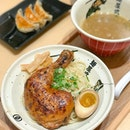 Drumstick tsukemen with truffle mushroom soup [Ala carte: $17.90++, set: $20.90++] .