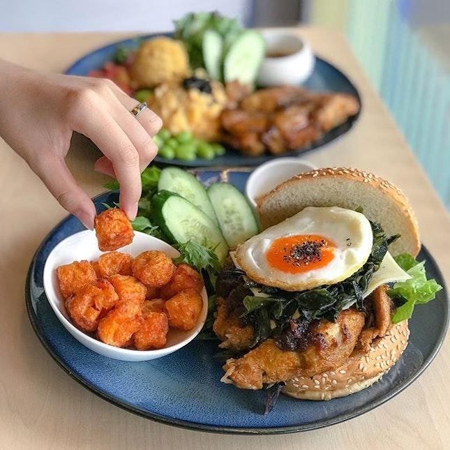 Ramandan special: Satay chicken burger bento [$12.60] .