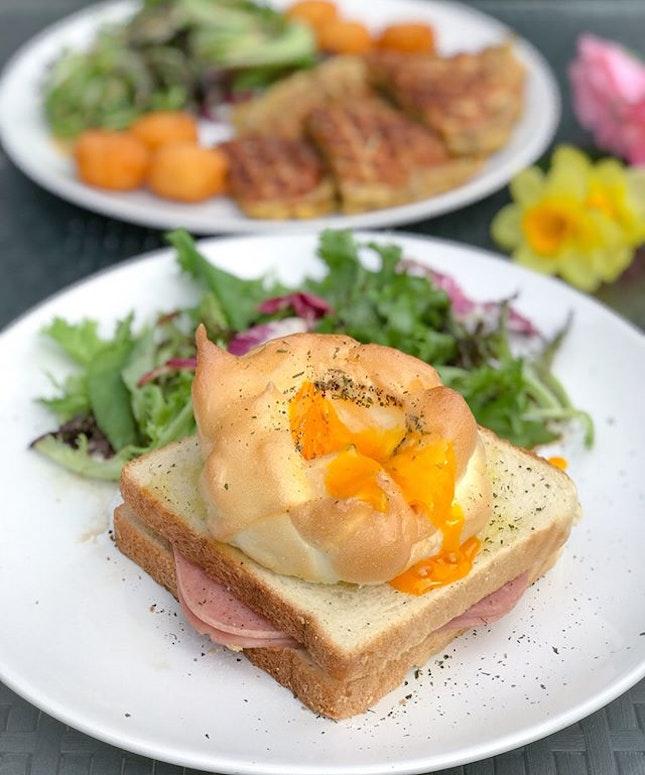 Fluffy egg sandwich [$12.30] .