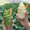 Matcha softserve [$5.90] Yuzu softserve [$6.90] Additional $2.10 for an upsize cup- served in a taller cup by default but I requested for it to be served in a regular cup for a taller swirl 🙈.