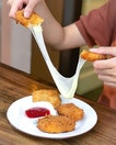 Fried mozzarella [$6.80] .