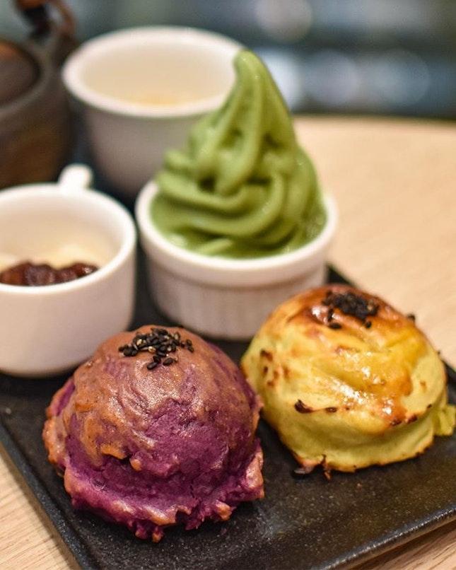 Baked sweet potato & Houjicha[$7.99++] .