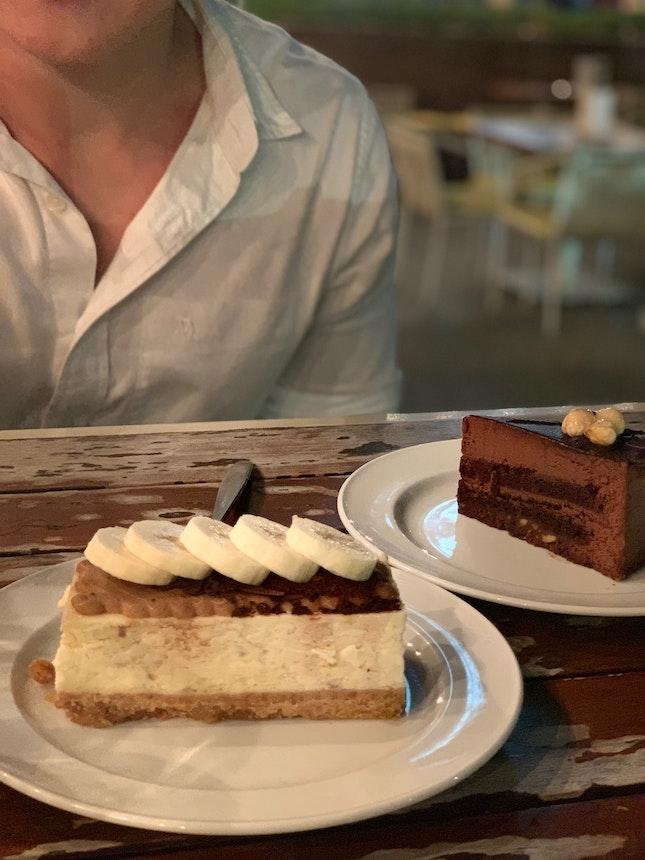 Banoffee Cheesecake, Hazelnut Praline Cake