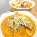 "• This ""Ka li mee "" flares better than the Laksa • Ya Kun Curry Chicken Noodles $5 •"