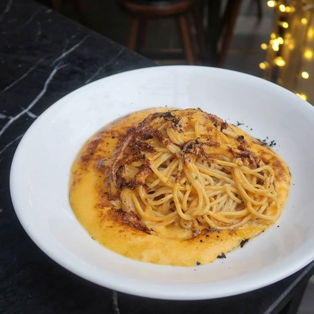 Spaghetti with Sea Urchin Carbonara ($26++) wasn't exactly how i expected it because I thought the sea urchin would be served in the flesh and not in the form of a cream sauce haha.