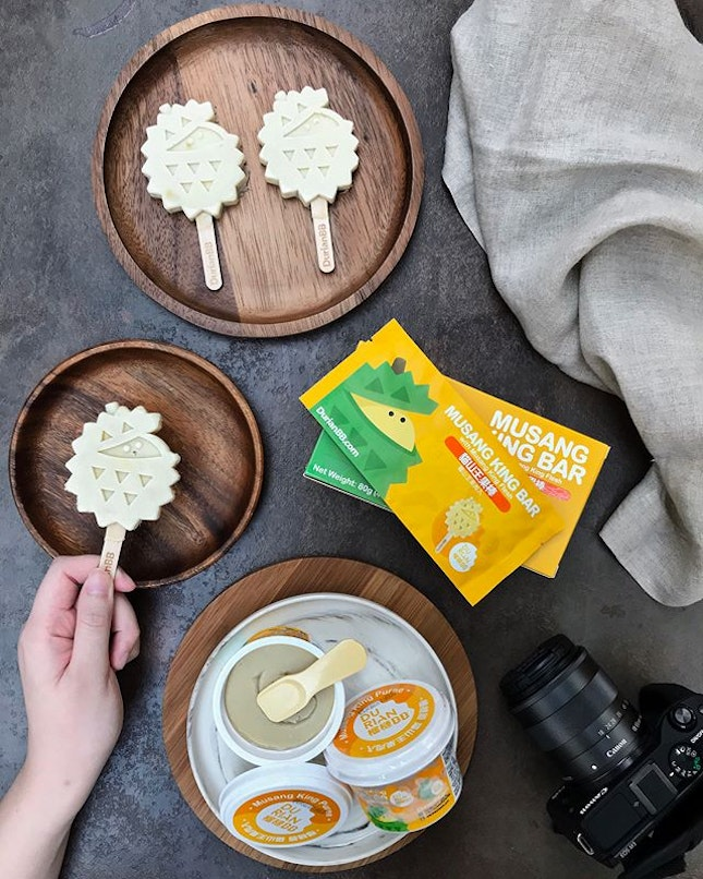 With an orchard that is dedicated to planting Musang King durians, DurianBB prides themselves with serving the freshest durians and they have launched two products, the Musang King Bar ($6.95 for 2 pcs in a box) and Musang King Puree ($5.50), conveniently available at all Cold Storage outlets.