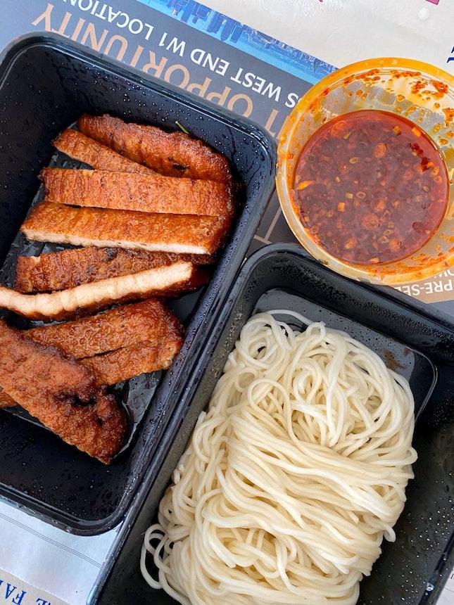 Noodles with Chilli Oil & Pork Rib