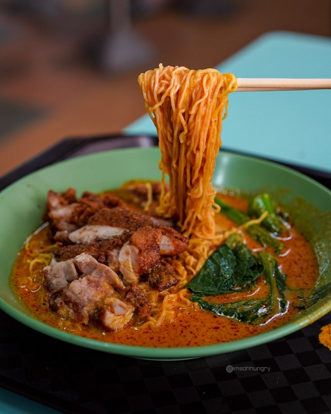 Curry Chicken Cutlet Noodles