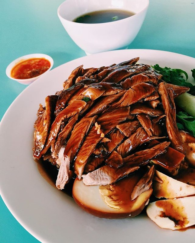 [SG] Braised duck done the teochew way is one of my all time favourite local meals.