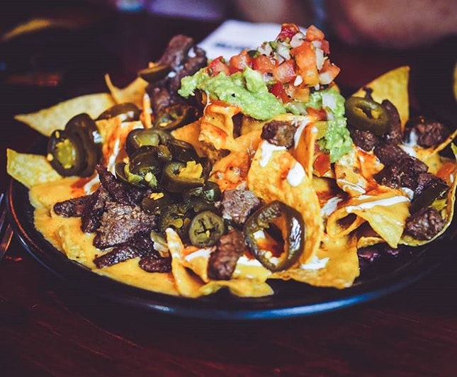 Nacho Mama's nachos ($29) at vatos urban tacos.