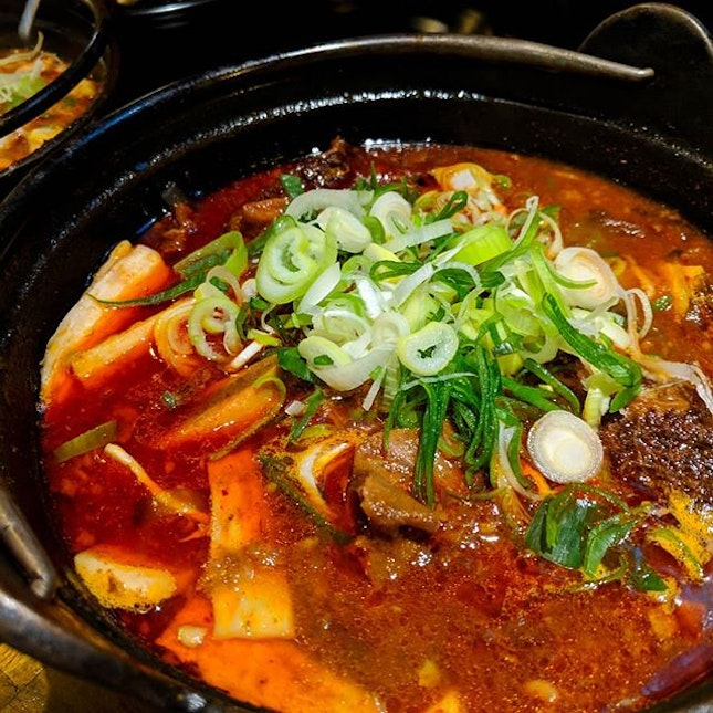 Having the spicy Korean beef stew at masizzim is making miss the 24 degree weather.
