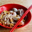 Checked out Jalan Tua Kong Lau Lim Mee Pok and pictured is their $6-portioned bowl of Ba Chor Mee which contains fishcake, sliced pork, meatballs, deep fried pork lard and prawns.