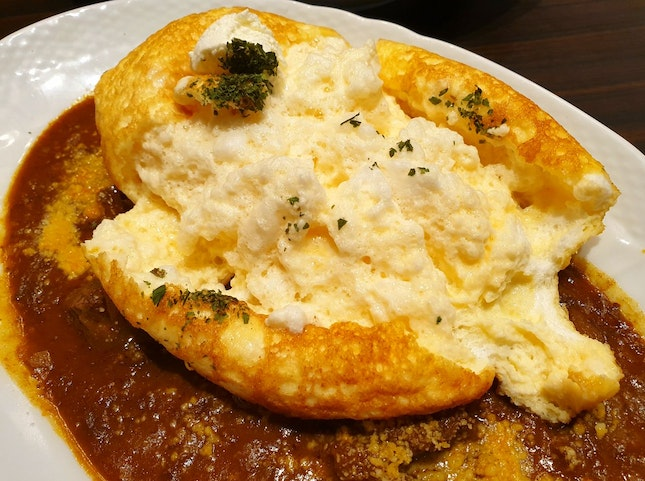 Souffle Omelette With Curry $17.80