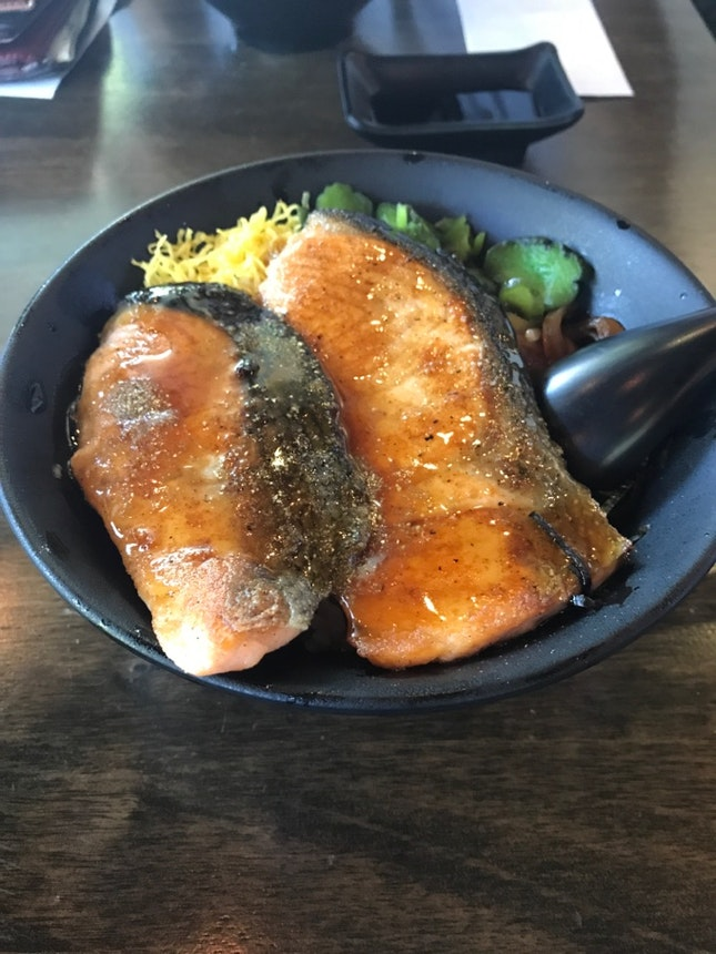 Salmon Teriyaki Don at S$16.