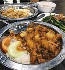 Hainanese Curry Chicken Rice • Salted Egg Yolk Chicken Rice • Sambal Cuttlefish Kang Kong 🤤