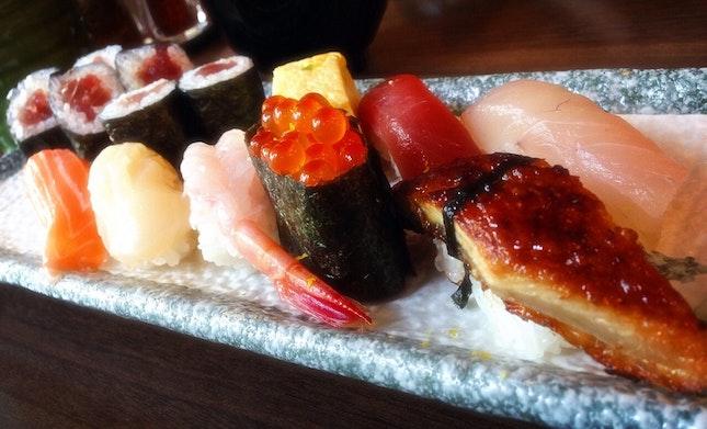 Tokusen sushi lunch set