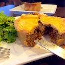 Nachos cheese and Steak Pie