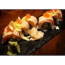 Salmon Maki Rolls.