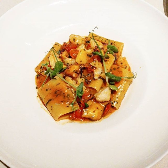 Paccheri-frutti di mare ($38++) was a large tubular pasta type with cod, octopus, prawns and fresh tomatoes.
