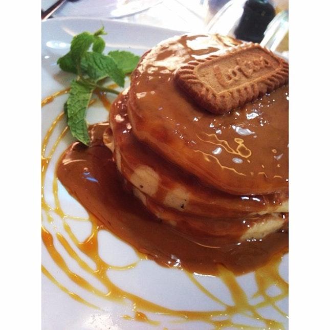 Lotus Caramel Pancake 🙊 #foodporn
