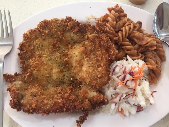 Schnitzel (Chicken cutlet + 2 Side Dishes)