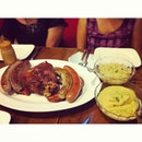 #dinner earlier today of #german food introduced by my darling d and in celebration for mama's bday!