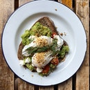 Avocado Toast with Eggs [$18]
