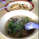 Meatball and Century Egg Porridge