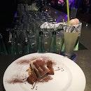Lychee-based Cocktail + Tiramisu