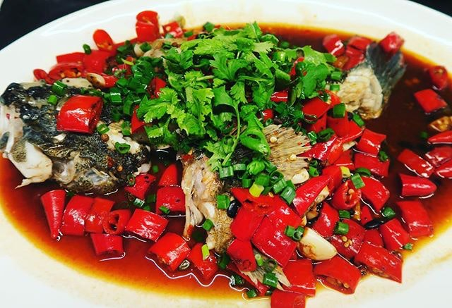 Steamed river fish with red chillie and Sechuan pepper corn- delicate yet SPICY  lavzfood #lavzdining #lavzdiningexperience #diningsg #foodies #foodreviewSg #foodspotting #foodlovers #foodporn #foodreviewsasia #yummy #foodie #realfood #sgeats #foodpix #nofilter #citynomads #sgrestaurants #sgdining #sgfoodlover  #iloveseafood #sgfoodies #sgfoodfinder #openricesg #burpple #instagood #foodstagram #foodgasm #sgeats