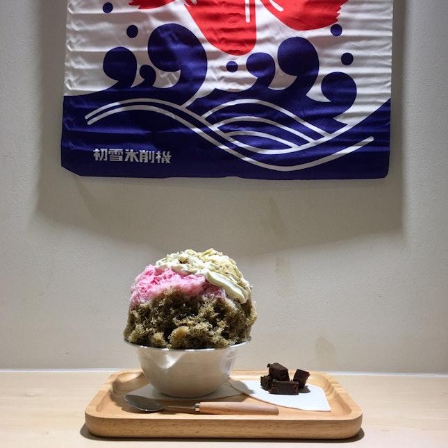 Houjicha (and Sakura) Kakigori