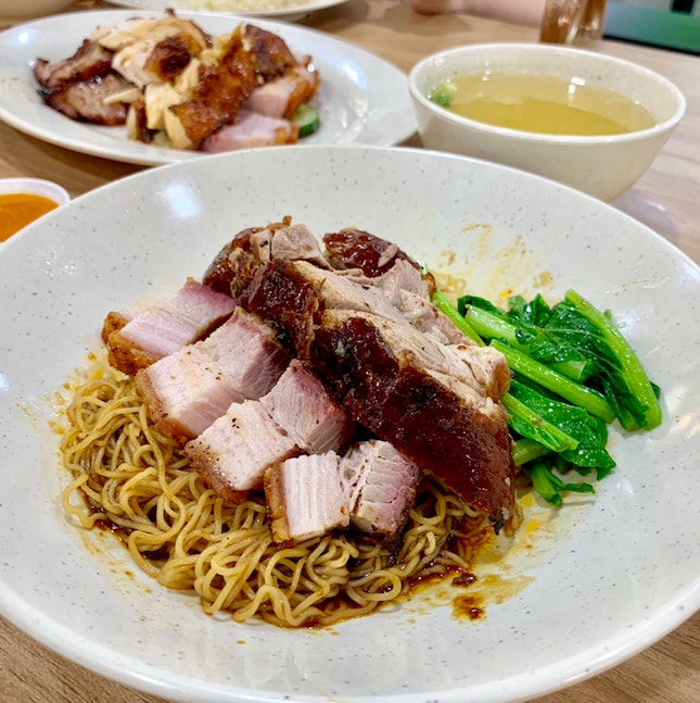 Roasted Duck Noodle With Roasted Pork